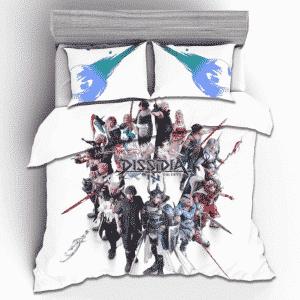 Final Fantasy Dissidia Main Heroes Classic White Bedding Set