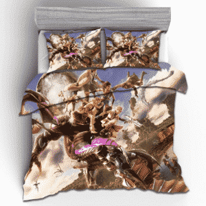 Final Fantasy XIII Heroes Fighting Monster Cool Bedding Set