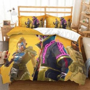 Fortnite Battle Royale Kitsune and Friends Yellow Bedding Set