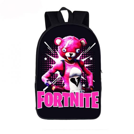 Fortnite Battle Royal Cuddle Team Leader Black Backpack Bag