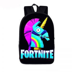 Fortnite Battle Royal Funny Rainbow Unicorn Black Backpack