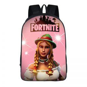 Fortnite Battle Royal Heidi Braided Hair Pink Backpack Bag