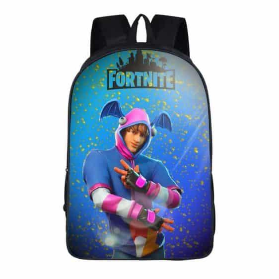 Fortnite Battle Royal K-Pop Skin Bat Ears Blue Backpack Bag