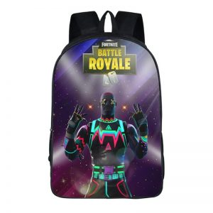 Fortnite Battle Royal LiteShow Outfit Neon Light Backpack Bag