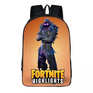 Fortnite Battle Royal Raven Skin Outfit Purple Eyes Backpack