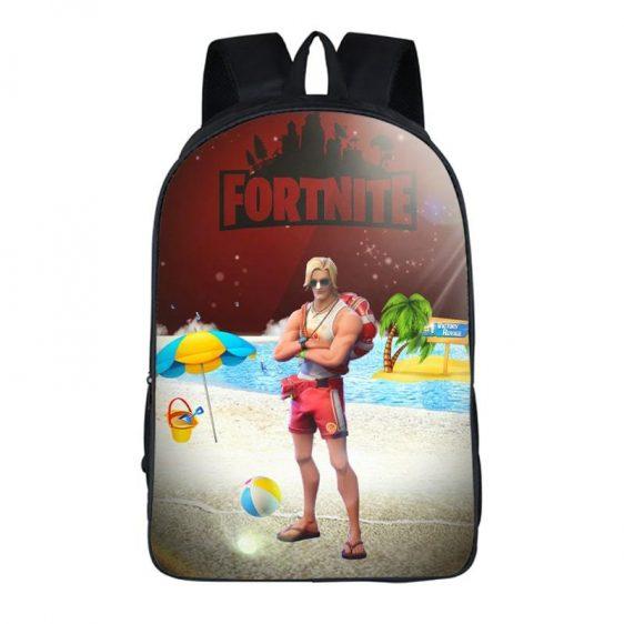 Fortnite Battle Royal Sun Tan Specialist Maroon Backpack Bag