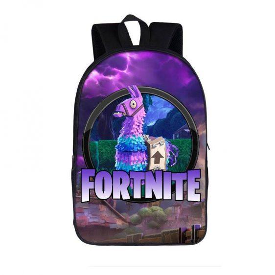 Fortnite Battle Royal Supply Llama Loot Purple Backpack Bag