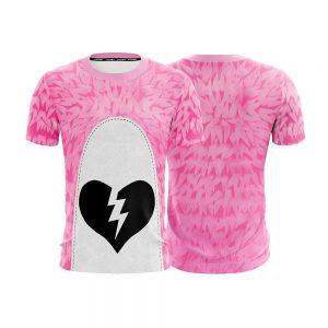 Fortnite Pink Teddy Bear Valentine Day Skin Cosplay T-shirt - Superheroes Gears