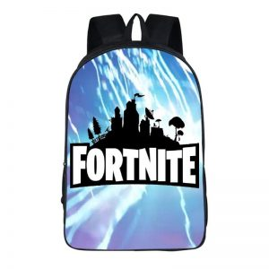 Fortnite Thunder Strike Black City Silhouette Backpack