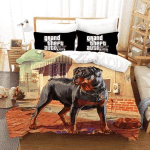 GTA 5 Chop The Black Rottweiler Dog Awesome Bedding Set