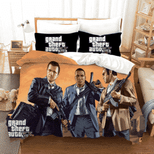 GTA 5 Michael Franklin Trevor Main Characters Bedding Set
