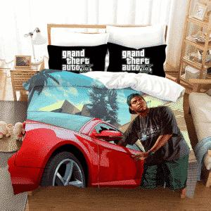 GTA V Lamar Davis Stealing Items On Red Car Dope Bedding Set