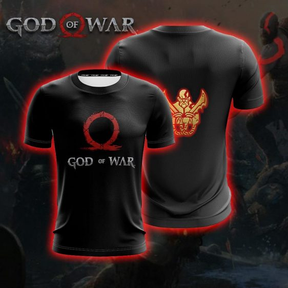 God Of War Black Kratos Omega Dual Blades Gaming T-Shirt