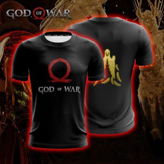 God Of War Black Kratos Omega Valkyries Symbol Gaming T-Shirt