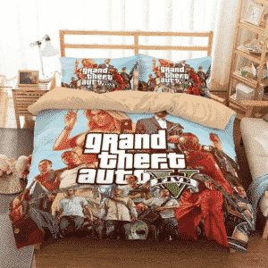 Grand Theft Auto V Major Characters Cool Bedding Set