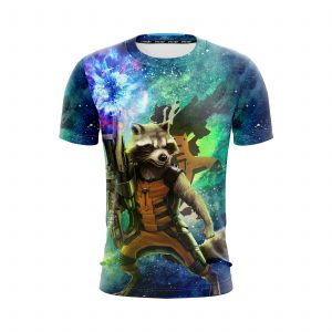 Guardians Of The Galaxy Awesome Rocket Raccoon Green T-Shirt