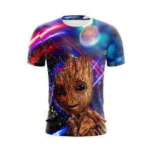 Guardians Of The Galaxy Sweet Groot Colorful Vibrant T-Shirt