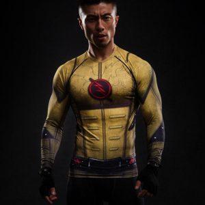 DC The Flash Superhero 3D Printed Compression Slim Fit T-shirt - Superheroes Gears