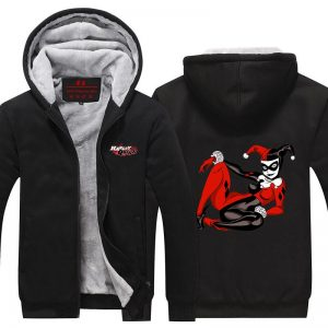 Harley Quinn Black Red Sexy Queen 3D Cool Hooded Jacket - Superheroes Gears