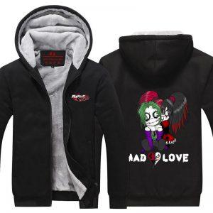Harley Quinn Joker Cute Mad Love Couple Cool Hooded Jacket - Superheroes Gears