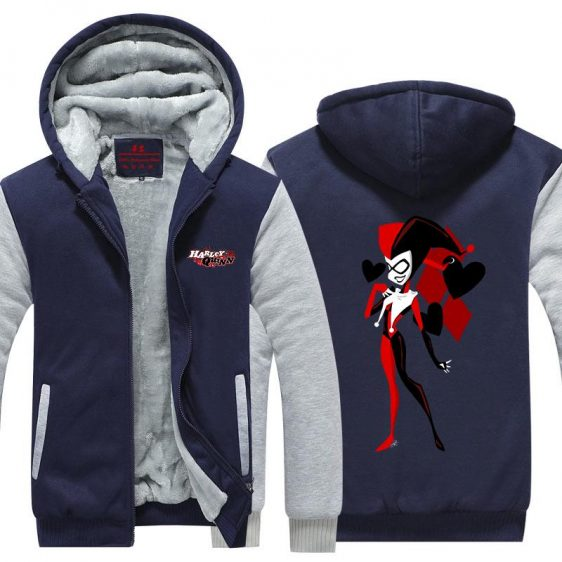 Harley Quinn Sexy Queen Vibrant Design 3D Hooded Jacket - Superheroes Gears