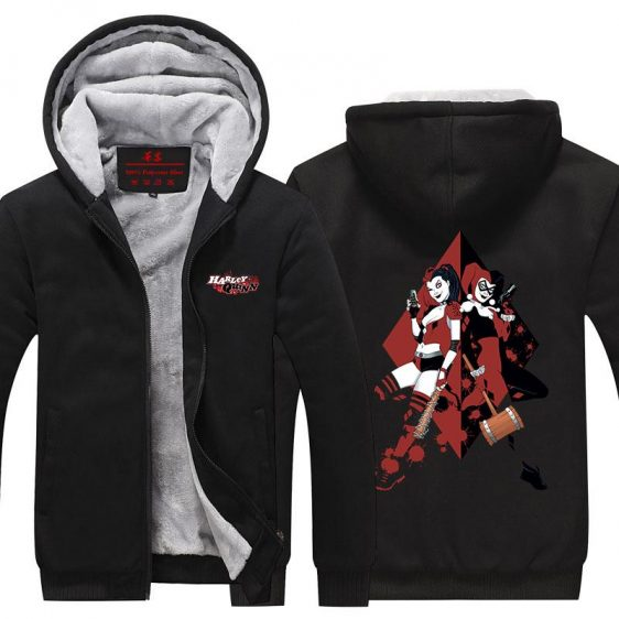 Harley Quinn Sisterhood Weapon Action Dope Hooded Jacket - Superheroes Gears