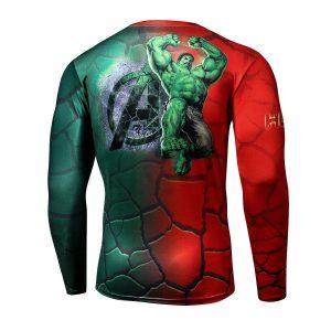 Hulk Superhero Long Sleeves 3D Design Compression T-shirt - Superheroes Gears