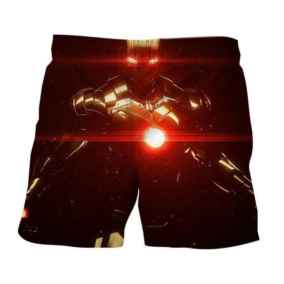 Iron Man's Power Portrait Dark Style 3D Printed Shorts