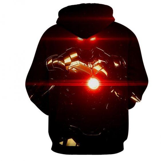 Iron Man's Power Portrait Dark Style Full Print Hoodie