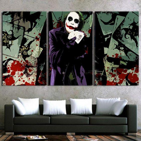 Joker Razor-Tipped Playing Cards 3pcs Wall Art Canvas Print