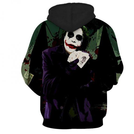 Joker Razor-Tipped Playing Cards Design Full Print Hoodie