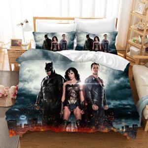 Justice League Batman Wonder Woman And Superman Bedding Set