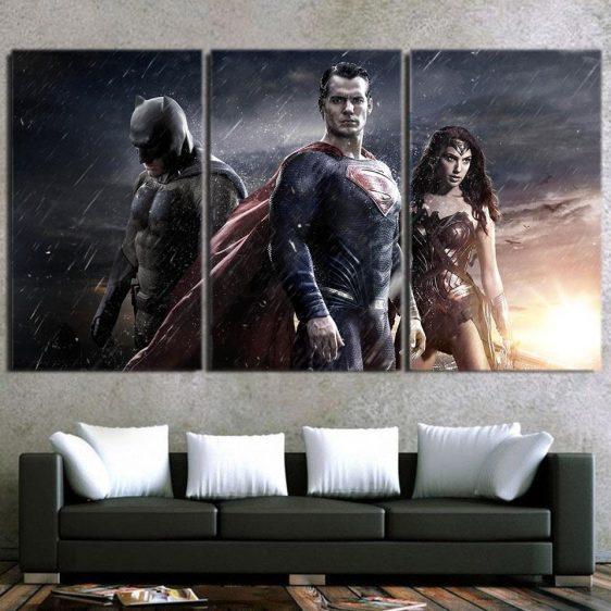 Justice League DC Comic's Trinity 3pcs Canvas Print