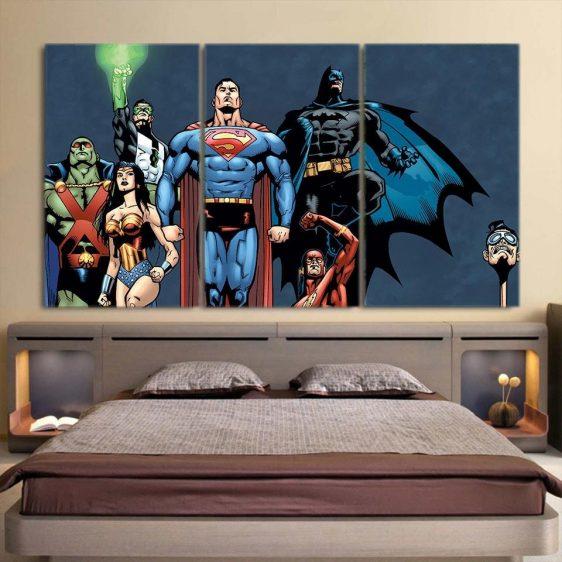 Justice League Dope Unique Art Style 3pcs Canvas Print