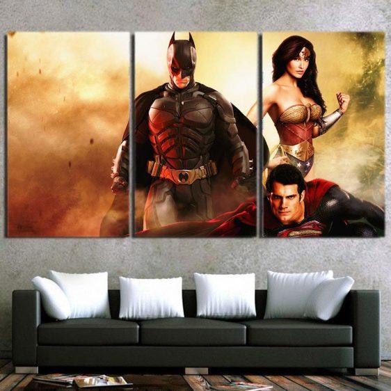 Justice League Fierce Superheroes 3pcs Canvas Print