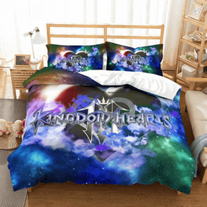 Kingdom Hearts 3 Galaxy Themed Awesome Gaming Bedding Set