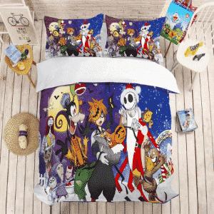 Kingdom Hearts Spooky Sora and Friends Halloween Bedding Set