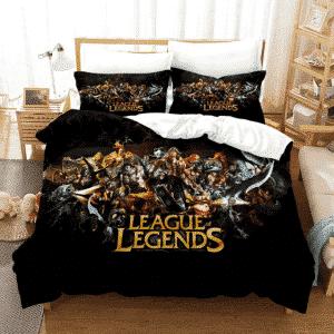 League of Legends Badass Champions Black Bedding Set