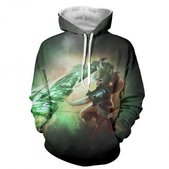 League of Legends Riven Dominant Broken Sword Fighting Trendy Hoodie