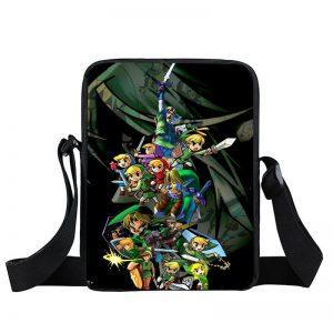 Legend of Zelda Epic Little Link Black Cross Body Bag