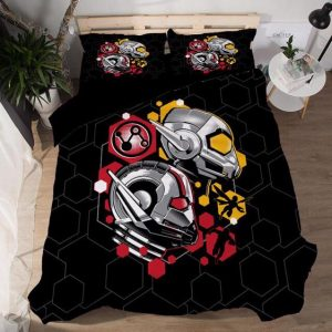MCU Ant-Man And The Wasp Symbol Symmetric Black Bedding Set