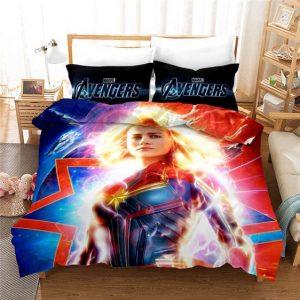 MCU Brie Larson Captain Marvel Awesome Bedding Set