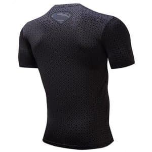 Man of Steel Black Version DC Comic Stunning 3D Printed Gym T-shirt