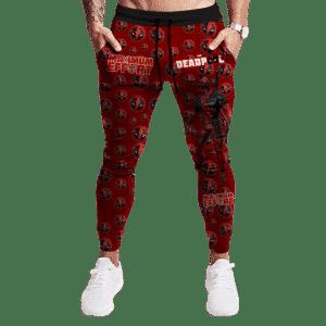 Marvel Deadpool Epic Crimson Red Dope Jogger Pants