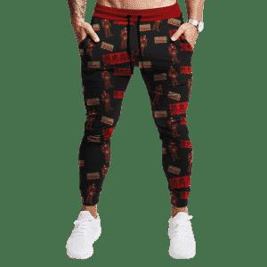 Marvel Iron Man Black Random Pattern Awesome Jogger Pants