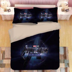 Marvel Studios Avengers Endgame Movie Logo Bedding Set