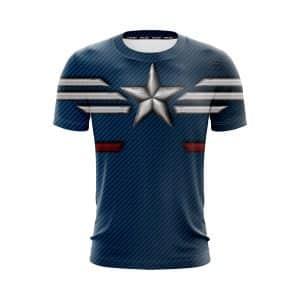 Marvel Captain America The STRIKE Stealth Suit Blue T-Shirt