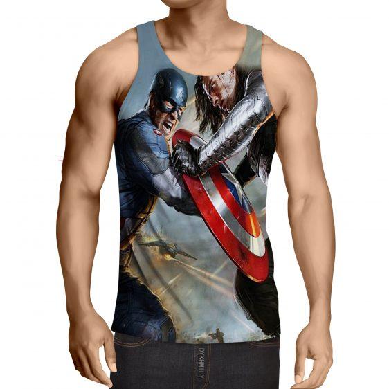 Marvel Comics Captain America Vs Thor Cool Tank Top