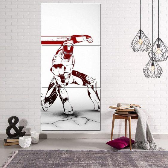 Marvel Comics Forceful Iron Man Portrait 3pcs Canvas Print