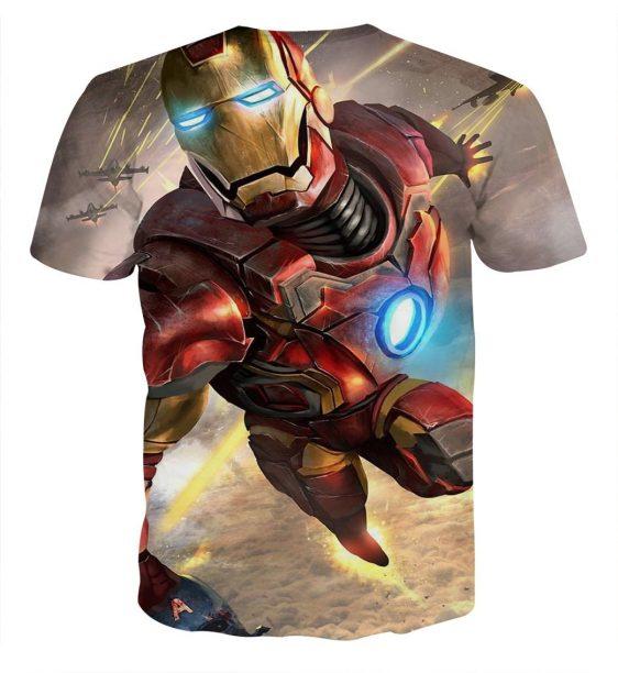 Marvel Comics Indestructible Iron Man Design T-shirt